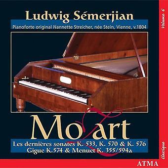 W.a. Mozart - Mozart: Les Derni Res Sonates K. 533, 570 & 576; Gigue K. 574; Menuet K. 355 / 594a [CD] USA import