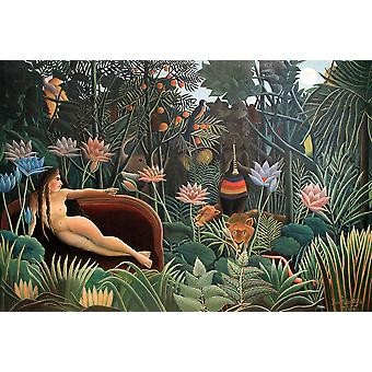 Henri Rousseau - Exotic Forest Juliste Tulosta Giclee