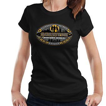 Outrun Outsmart Outlive Survivor North Georgia Walking Dead Women's T-Shirt