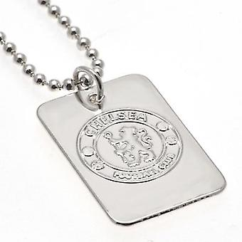 Chelsea Silver Plated Dog Tag & keten