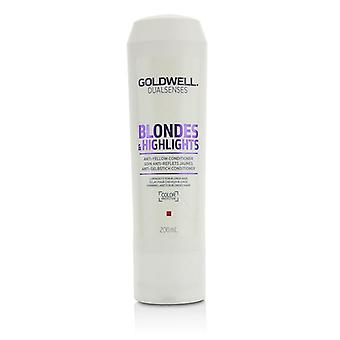 Goldwell Dual Senses blondiner & amp; Belyser anti-gult balsam (luminositet för blont hår)-200ml/6.8 oz