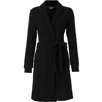 Pastunette 7072-304-1-999 Damen Luxe schwarze Robe Loungewear Bad Morgenmantel