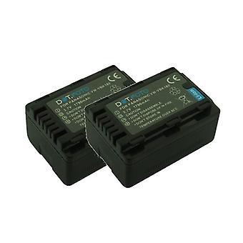 2 x Dot.Foto Panasonic VW-VBK180, batteria di ricambio VW-VBK180E-K - 3.7 v / 1790mAh - 2 anni di garanzia [vedi descrizione per compatibilità]