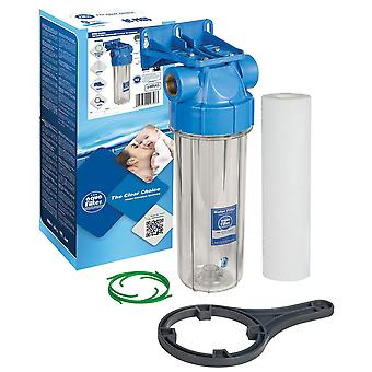 "1/2"" 3/4"" 1"" Water Filtration In-Line Purify System Housing + Whole Filter Set"