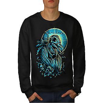 Death Raven Saint Horror Men BlackSweatshirt | Wellcoda