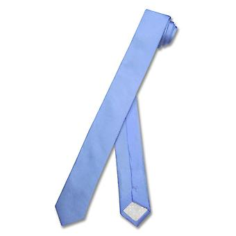 "100% SILK Narrow NeckTie EXTRA Skinny SKY Men's 1.5"" Neck Tie"