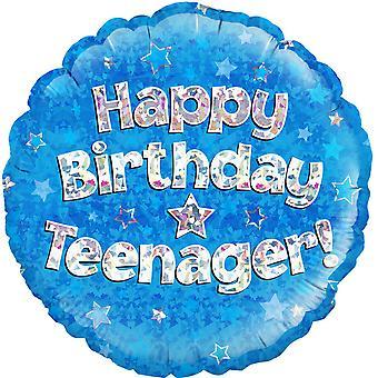 Oaktree 18 Inch Circle Happy Birthday Teenager Foil Balloon