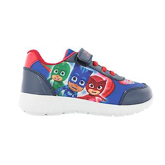 Boys P J Masks Blue Canvas Trainers Sports Shoes Hook & Loop UK Sizes 5-10