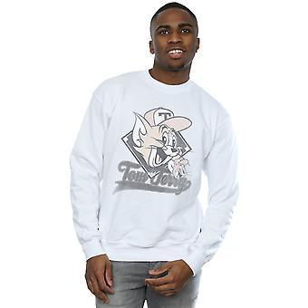 Tom og Jerry mænds Baseball hætte Sweatshirt