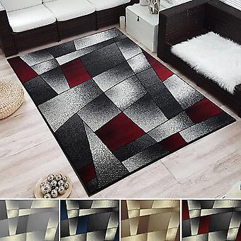 Modern Design ShortFlor Rug Fantasy Tile Look Pattern Tiled