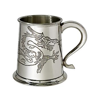 Chinez Dragon 1 halbă Pewter Tankard