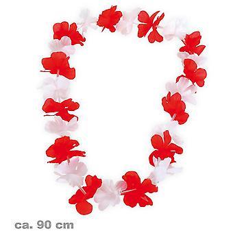 catena Hawaii rosso e bianco fiore catena motto partito FAN elemento spiaggia party