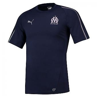 2018-2019 Olympique Marseille Puma képzés Jersey (haditengerészet)
