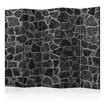 Paravent 5 volets - Black Stones II [Room Dividers]