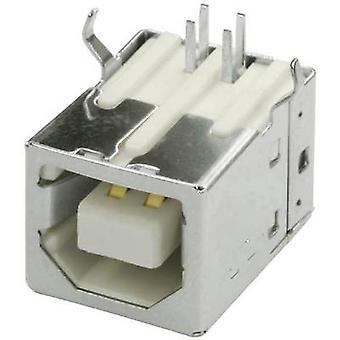 USB-B PCB socket Socket, horizontale mount USBBU1B 1 Port econ sluit inhoud: 1 PC('s)