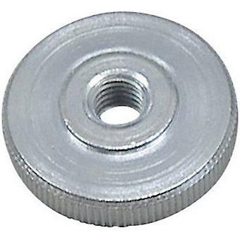 Écrous DIN 467-5 ZN moleté TOOLCRAFT M5 DIN 467 acier zinc plaqué de 10 PC (s)