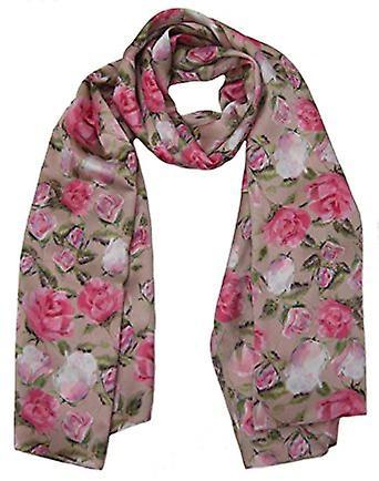 English Rose Silk Designer Scarve