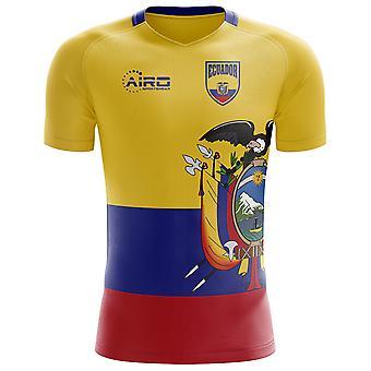 2020-2021 الاكوادور مفهوم المنزل لكرة القدم قميص - الكبار طويلة الأكمام