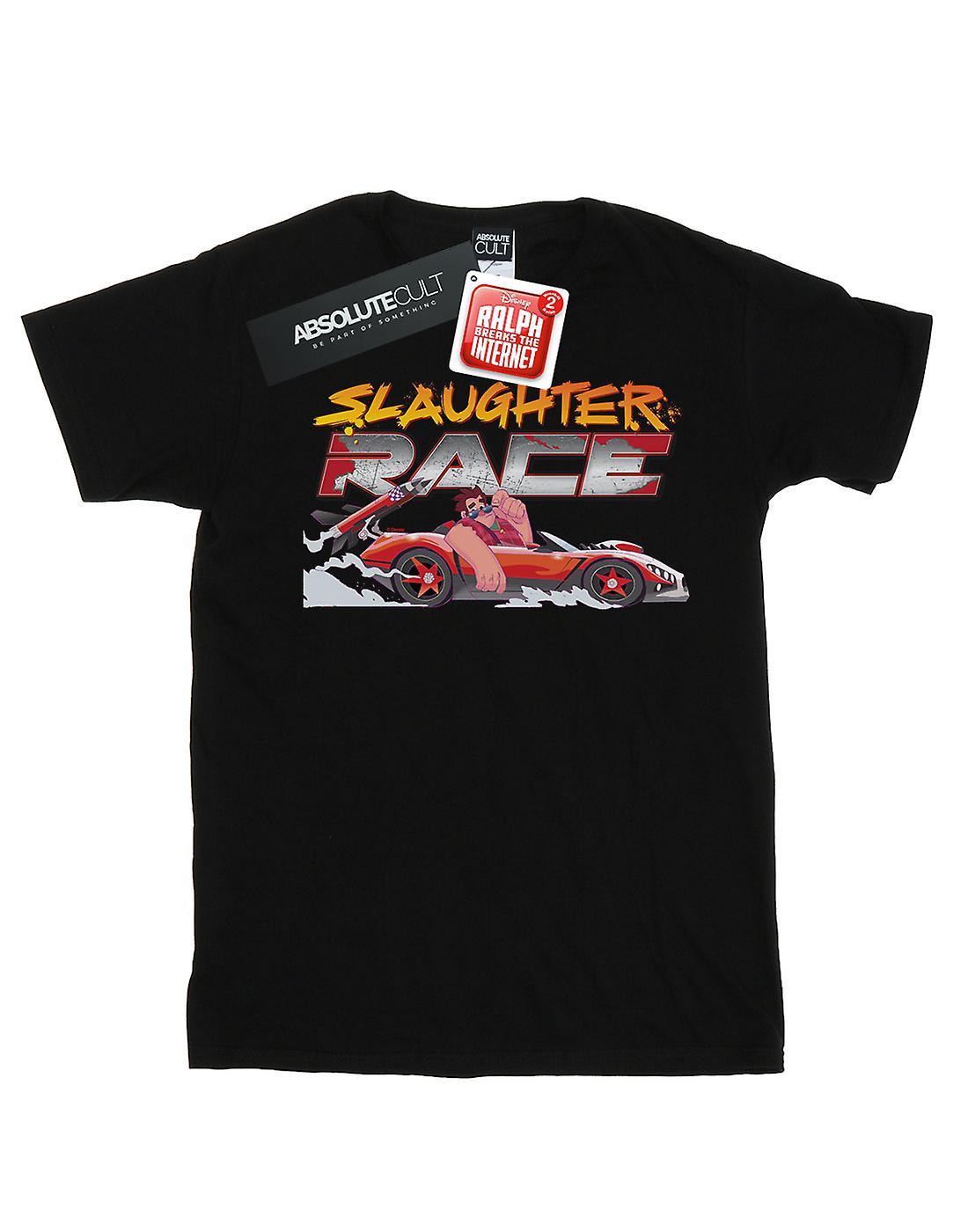Disney Women's Wreck It Ralph Slaughter Race Boyfriend Fit T-Shirt