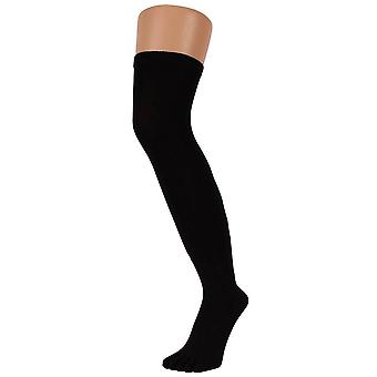 TOETOE Everyday Over The Knee Toe Socks - Black