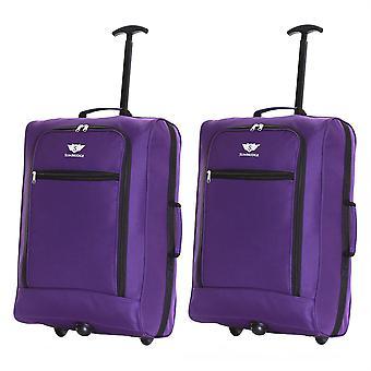 Slimbridge Montecorto Satz 2 Kabine Gepäcktaschen, lila (2-er SET)