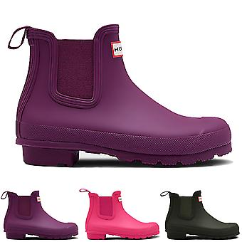 Womens Hunter Original Chelsea Waterproof Festival Snow Rain Ankle Boots
