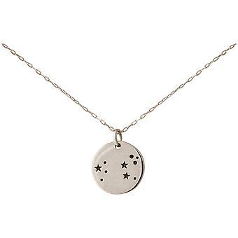 Constelação de colar horóscopo Leo leão 925 prata, banhado a ouro, rosa