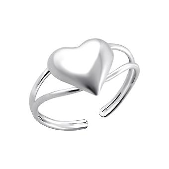 Heart - 925 Sterling Silver Toe Rings - W780x