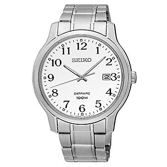 Seiko heren Quartz analoge horloge met stalen band SGEH67P1