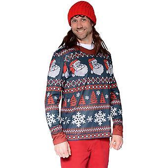 Ugly Christmas Santa Sweater Adult
