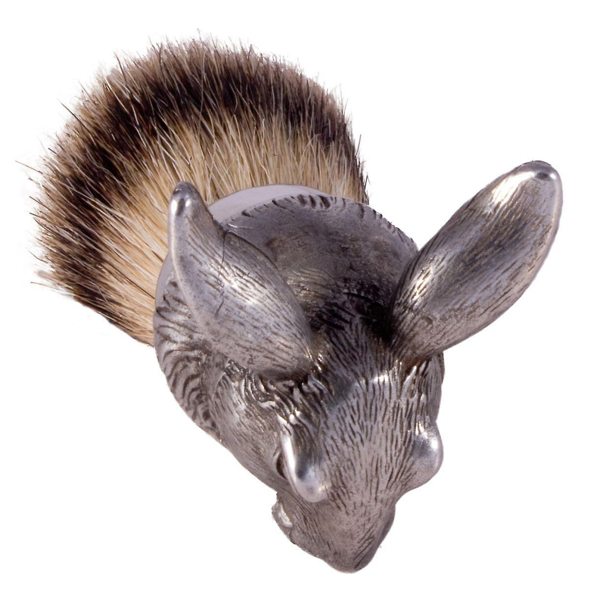 The English Pewter Co Silvertip Badger Hair Shaving Brush-Hare