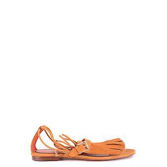 Santoni Whbf56320ha1rlcpl51 Women's Brown Suede Sandals