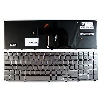 Dell Inspiron 17-7737 Silver Frame taustavalaistu hopea Windows 8 Saksan layout korvaaminen Laptop Keyboard