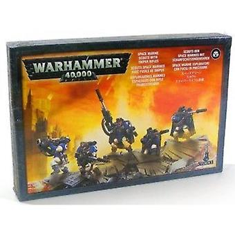 Warhammer 40,000 Space Marine Scouts with Sniper Rifles