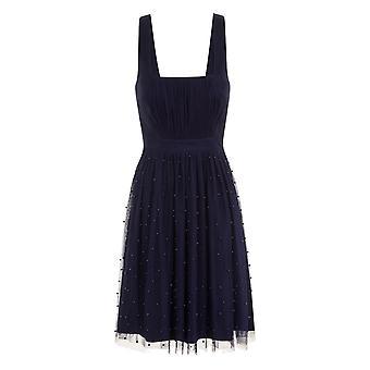 Little Mistress Womens/Ladies Navy Midi Dress