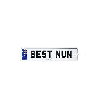Australia - Best Mum License Plate Car Air Freshener