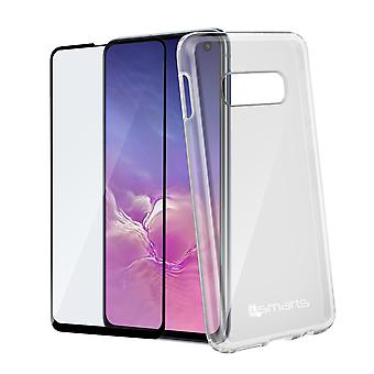 Coque Galaxy S10e Polycarbonate et Film Verre trempé 4Smarts Transparent
