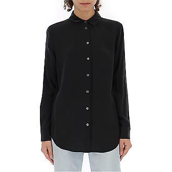 Equipment Q23e900trueblack Women's Black Cotton Shirt