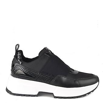 MICHAEL by Michael Kors Cosmo Black Canvas Slip On Trainer