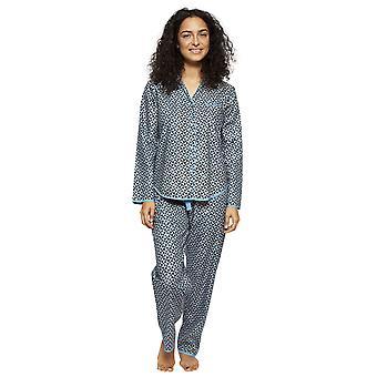 Cyberjammies 4193 Women's Milly Black Mix Tile Print Cotton Pyjama Top