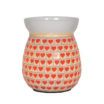 Aroma Valentines Mothers Day Heart Electric Wax Melt Tart Burner Warmer Red