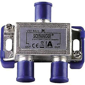 Schwaiger VTF8822 Cable TV distributor 2-way 5 - 1000 MHz