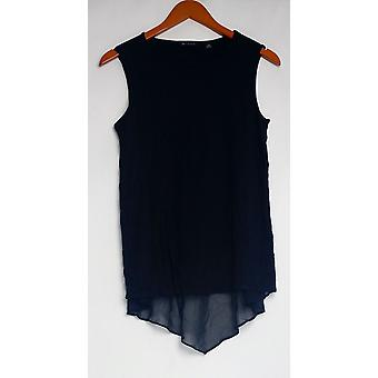 H by Halston Women's Top XXS Sleeveless Knit Top Black A277932