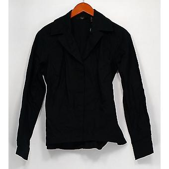 G.I.L.I. lo tiene amor Top Notch Collar Self Tie Camisa Negro A286937