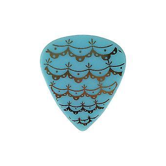 6 Pickboy Angel Rocks - Guitar Picks/Plectrums - Victorian Lace - Blue 1.00mm