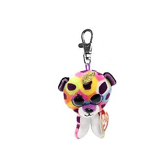 TY Key Clip Giselle le léopard