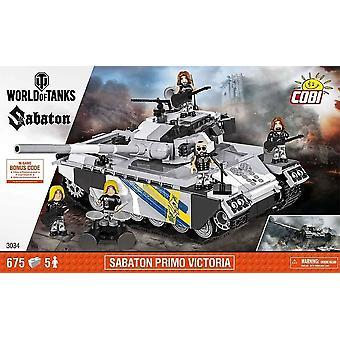 Sabaton بريمو فيكتوريا العالم من الدبابات الأطفال ق كتل البناء الرمادي والأسود