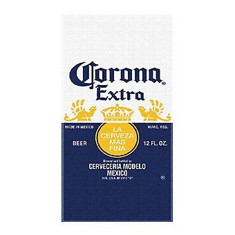 Corona Extra Beer Label Beach Towel