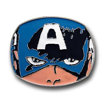 Capitan America Face Belt Buckle