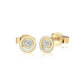 Diamore Women's Earrings in Yellow Gold 14K and Diamond